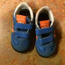 Adidas Dragon Infant Shoes Blue Orange Size 6 Infant Velcro Photo