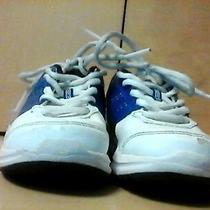 Adidas Duramo 7 K Running Shoes Kids Unisex Junior White/blue Sz 12.5 Photo