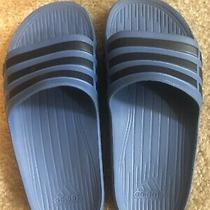Adidas Duramo Performance Boys Blue Athletic Slides Sandal Slip-on Big Kids 4 Photo