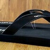 Adidas Eezay Flip Flops Sandals Mens 13 Eg2042 Black/white Soft Footbed  Photo