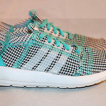 Adidas Element Refine Tricot Aqua Multi-Color Running Shoes Size 11k  B41196 Photo