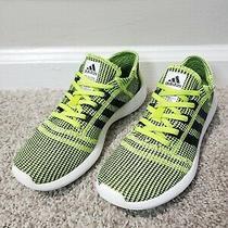 Adidas Element Refine Tricot Running Shoe - Lime Black - Women Size 7.5 - M21533 Photo