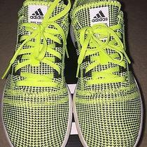 Adidas Element Refine Tricot W 9.5 Slime Neon Green Black Running Shoes Euc Photo