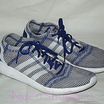 Adidas Element Refine Tricot White/blue Running Sneakers Mens Size 11.5 Photo