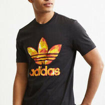 Adidas Eruption Trefoil Fire Flames Black Tee M Medium Urban Outfitters Photo