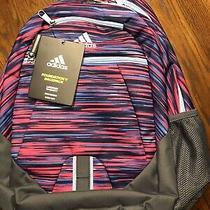 Adidas Foundation v Shock Pink/sunset/blue Women's/girl's Backpack. Brand New Photo