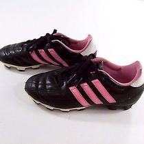 Adidas Girls 13.5 K Soccer Cleats Shoes Baseball Softball Sports Black Pink  Photo