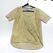 Adidas Gold Team Gb by Stella Mccartney Tshirt Size Uk 14 Us 10 Photo