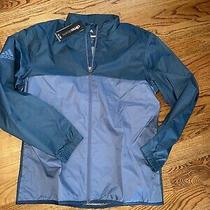 Adidas Golf Clima Storm Jacket Blue Golf Training Performance Size Lg Nwt 85 Photo