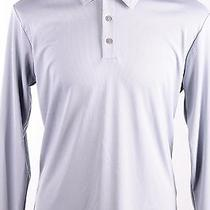 Adidas Golf Climalite Long Sleeve Polo Chrome Gray / White  M Photo