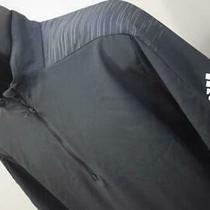 Adidas Golf Jacket Zip Neck Pullover Black Long Sleeve Athletic Mens Size Xl Photo