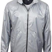 Adidas Golf Man's Travel Elements Lining Outerwear Jacket Silver Gray  Xl Photo