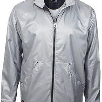 Adidas Golf Man's Travel Elements Lining Outerwear Jacket Silver Gray  L Photo