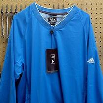 Adidas Golf Wind Jacket Coat Shirt  Blue Climaproof  New Nwt Mens M Medium Photo