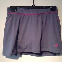 Adidas Gray Pink Stretch Tennis Golf Running Skort Small Photo