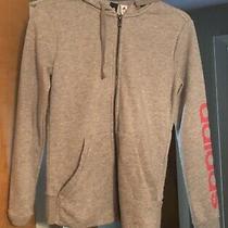 Adidas Grey Gray Pink Zip Up Jacket Xs Photo
