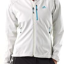 Adidas Hiking Softshell Jacket-Womens-L-Spray (White)/water and Wind Resistant  Photo