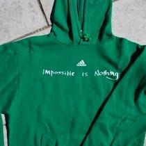 Adidas Hoodie Sweatshirt Green Impossible Is Nothing Graphic Sizes Small Photo