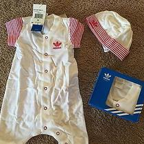 Adidas Infant Onesie and Hat Box Set 6 Months Photo