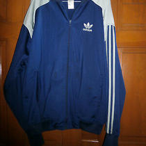 Adidas  Jacket Blue /light Blue  Zip Up  Polyester Athletic Jacket Size Xl Euc Photo