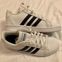 Adidas Kids' Grand Court K Athletic Sneaker Shoe White Size 3m / New W/o Box Photo