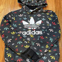 Adidas Kids Multicolored Logo Hoodie Size Small 9-10 Years Old Photo