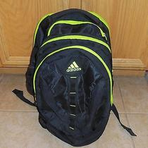 Adidas Laptop Backpack Neon Yellow and Black Photo