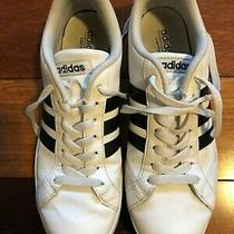 Adidas Leather Shoes - White and Black - Size 9 Photo