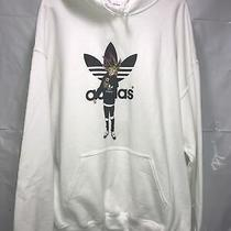 Adidas Logo Hoodie White New Without Tag Adult X-Large White Photo