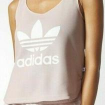 Adidas Loose Crop Top Pale Pink Small Photo