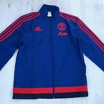 Adidas Manchester United Mens Blue & Red Zip Up Jacket Size Small S  Photo