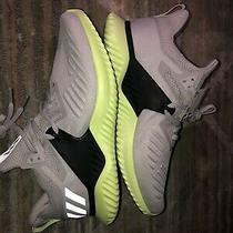 Adidas Men's Alphabounce Beyond Gray Green Running Shoes Size 9 Bd7096 Photo