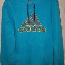 Adidas Men's Aqua Blue Pullover Hoodie Size Medium M Photo