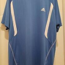 Adidas Men's Baby Blue Golf Polo Shirt Xl Short Sleeve Photo