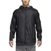 Adidas Men's Black Id Woven Shell Hooded Windbreaker Full Zip Track Jacket 2xl Photo