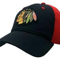 Adidas Men's Chicago Blackhawks Coach Flex Fit Hat Baseball Cap Hnl Hockey Sizes Photo