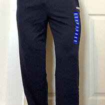 Adidas Men's Climalite 3-Stripe French Terry Jogging Pant L Navy New With Tags Photo