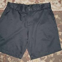 Adidas Men's Climalite Black Shorts Size 36 Flat Front Taped 38 X 10 Photo