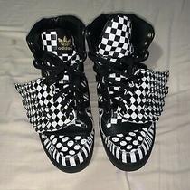 Adidas Men's Jeremy Scott Sneakers Checkerboard Wings Checkered Op Art Size 12 Photo