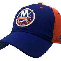Adidas Men's New York Islanders Coach Flex Fit Hat Baseball Cap Hnl Hockey Sizes Photo