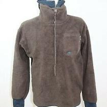 Adidas Men's Polar Fleece Outdoor Half Zip Hooded Top / Jacket Sz 6 Photo