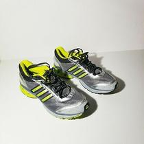Adidas Men's Running Shoes Silver/yellow Size 9.5 Photo