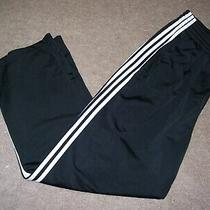 Adidas Men's Size Xl Athletic Type Pants Black Pre-Owned 100% Polyester Photo