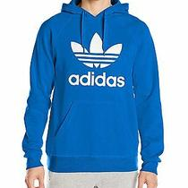 Adidas Men's Trefoil Bright Blue/ White Hoody Sweatshirt- Xxl Photo