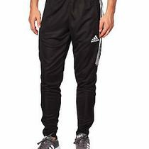 Adidas Mens Black Size Small S Soccor Zip-Ankle Activewear Pants 45 376 Photo