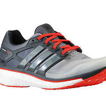 Adidas Mens Energy Boost 2 Running Shoes White/carbon/light Scarlet Gray Sz9 Photo
