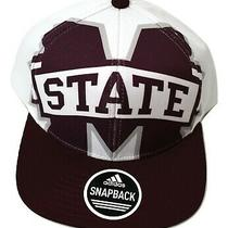 Adidas Mens Mississippi State Bulldogs Snapback Hat Cap New Photo