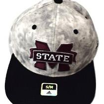 Adidas Mens Mississippi State Bulldogs Stretch Fit Hat Cap New S/m Photo