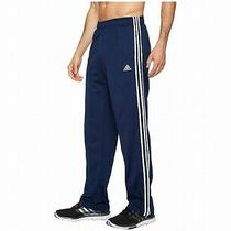 Adidas Mens Pants Blue Size Small S Tricot 3-Stripe Jogger Stretch 35- 156 Photo