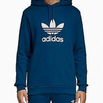 Adidas Mens Sweaters Blue Size 2xl Hooded Pullover Logo Graphic Print 65 087 Photo